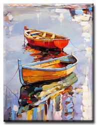 Diamanttavla Painted Sailboat 40x50