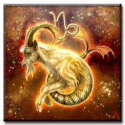 Diamanttavla Capricorn 40x40