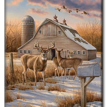 Diamanttavla Deer House 60x80 - Leveranstid 1-3 Dagar