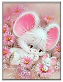 Diamanttavla Cute Mouse 30x40
