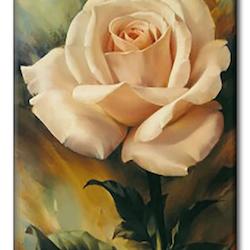 Diamanttavla (R) Rose Creame 30x40 - Leveranstid 1-3 Dagar