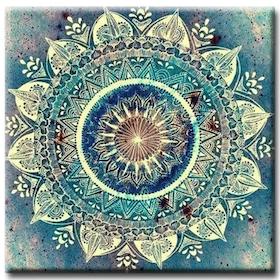 Diamanttavla Mysterious Mandala 50x50