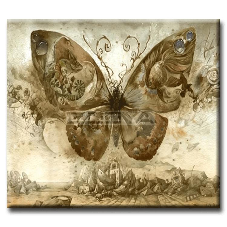 Diamanttavla Vintage Butterfly 50x70