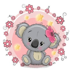 Diamanttavla Cute Koala 30x30
