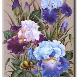 Diamanttavla (R) Flowers And Humble 40x50