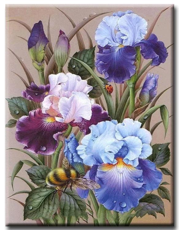 Diamanttavla Flowers And Humble 40x50