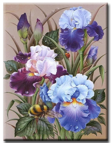 Diamanttavla Flowers And Humble 40x60