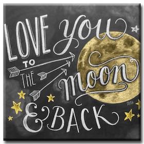 Diamanttavla Love You To The Moon 40x40