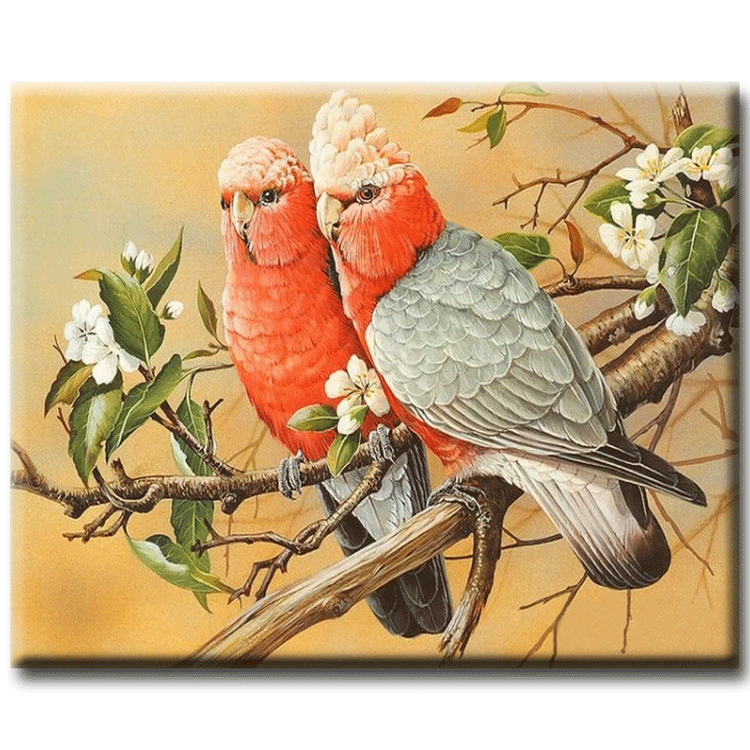 Diamanttavla Love Birds 40x50