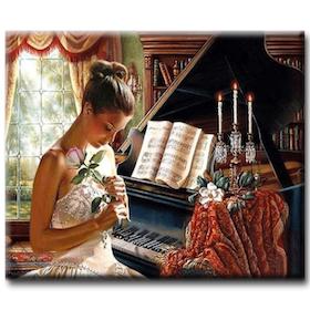 Diamanttavla Beauty By Piano 50x70