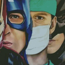 Diamanttavla Superheroes 50x70
