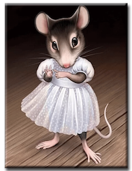 Diamanttavla (R) Girl Mouse 30x40