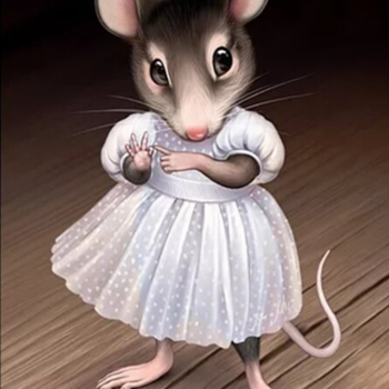 Diamanttavla (R) Girl Mouse 30x40