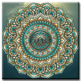 Diamanttavla Flower Mandala  50x50