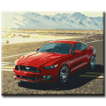 Paint By Numbers Red Sportcar 40x50