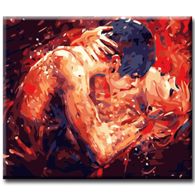 Paint By Numbers Sensual Kiss 40x50