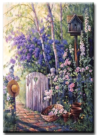 Diamanttavla (R) Garden Door 50x70