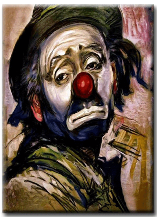 Diamanttavla (R) Sad Clown 40x50