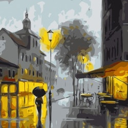 Paint By Numbers Evening Citywalk 40x50