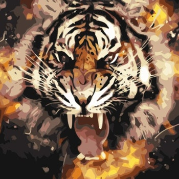 Paint By Numbers Tiger Power 40x50