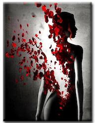 Diamanttavla (R) Rose Woman 40x50