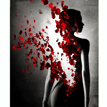 Diamanttavla Rose Woman 40x50