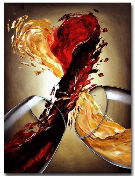 Paint By Numbers Wine Heart 40x50