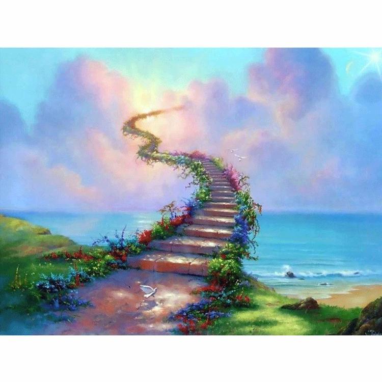 Diamanttavla  (R) Stairways To Heaven 50x70