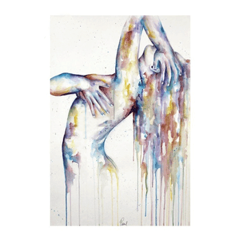 Diamanttavla (R) Watercolor Woman 50x70