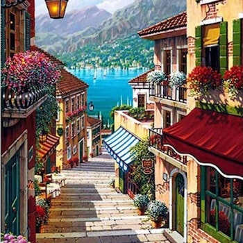 Paint By Numbers Stairs To The Ocean 40x50