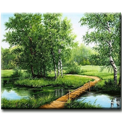 Diamanttavla Wood Bridge 40x50