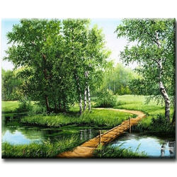 'Diamanttavla (R) Wood Bridge 40x50