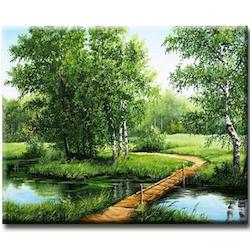 'Diamanttavla (R) Wood Bridge 40x50