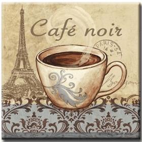 Diamanttavla Cafe Noir 40x40
