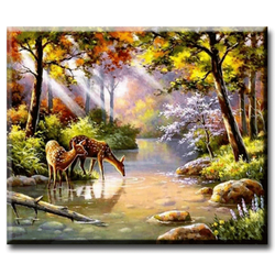 Diamanttavla Deer 40x50