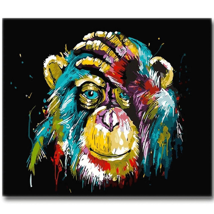 Diamanttavla Monkey 30x40