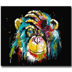 Diamanttavla Monkey 30x40