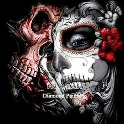 Diamanttavla Skulls 50x50