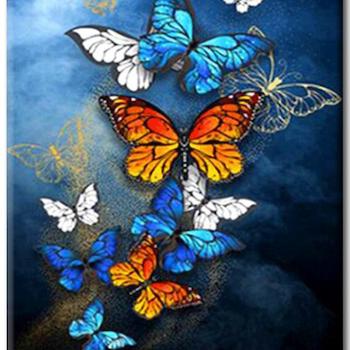 Diamanttavla Butterflies 40x50 - Leveranstid 1-3 Dagar