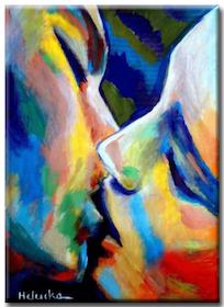 Diamanttavla Color Kiss 50x70