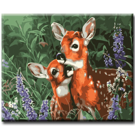 Paint By Numbers Cute Deers 40x50