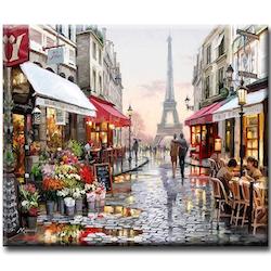Paint by Numbers Paris Walking 40x50