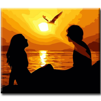 Paint By Numbers Couple Sunset 40x50