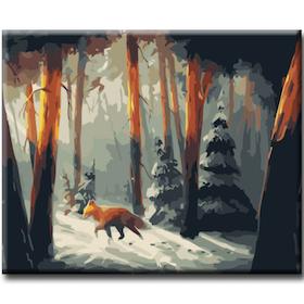 Paint By Numbers Räv I Vinterskog 40x50