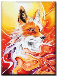 Diamanttavla Fox 30x40