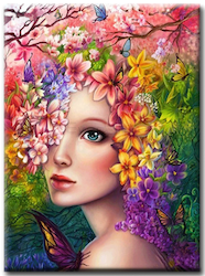 Diamanttavla Garden Beauty 50x70