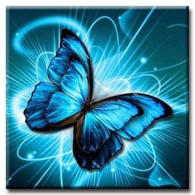 Diamanttavla (R) Butterfly Swirls 30x30