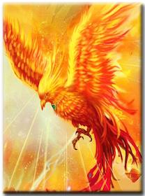 Diamanttavla Phoenix Power 40x50