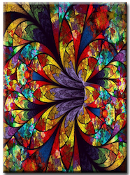 Diamanttavla Abstract Color Flower 40x50