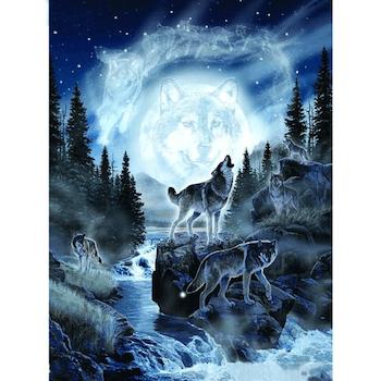 Diamanttavla Forest Wolves 40x50